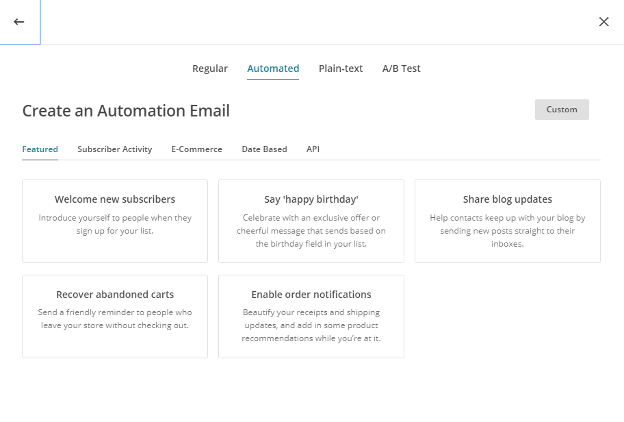 Email Marketing Automation - MailChimp Automation